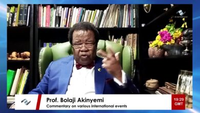 Photo of Prof Bolaji Akinyemi's poignant message on the Ebola outbreak in the DRC
